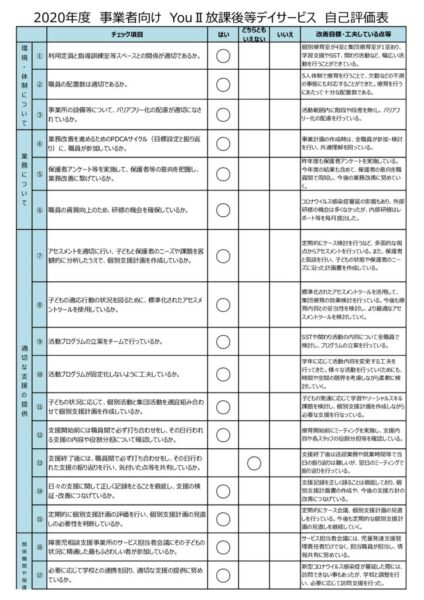 YouⅡ職員用事業所評価アンケート